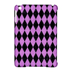 Diamond1 Black Marble & Purple Colored Pencil Apple Ipad Mini Hardshell Case (compatible With Smart Cover) by trendistuff