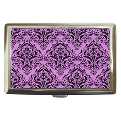 Damask1 Black Marble & Purple Colored Pencil Cigarette Money Cases by trendistuff