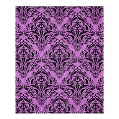 Damask1 Black Marble & Purple Colored Pencil Shower Curtain 60  X 72  (medium)  by trendistuff