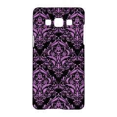 Damask1 Black Marble & Purple Colored Pencil (r) Samsung Galaxy A5 Hardshell Case  by trendistuff