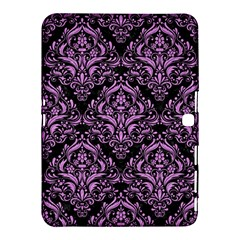 Damask1 Black Marble & Purple Colored Pencil (r) Samsung Galaxy Tab 4 (10 1 ) Hardshell Case  by trendistuff