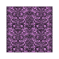 Damask2 Black Marble & Purple Colored Pencil Acrylic Tangram Puzzle (6  X 6 ) by trendistuff