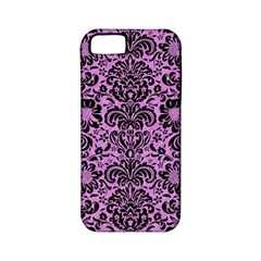 Damask2 Black Marble & Purple Colored Pencil Apple Iphone 5 Classic Hardshell Case (pc+silicone) by trendistuff