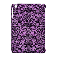 Damask2 Black Marble & Purple Colored Pencil Apple Ipad Mini Hardshell Case (compatible With Smart Cover) by trendistuff