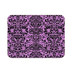 Damask2 Black Marble & Purple Colored Pencil Double Sided Flano Blanket (mini)  by trendistuff