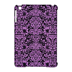 Damask2 Black Marble & Purple Colored Pencil (r) Apple Ipad Mini Hardshell Case (compatible With Smart Cover) by trendistuff