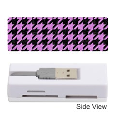 Houndstooth1 Black Marble & Purple Colored Pencil Memory Card Reader (stick)  by trendistuff