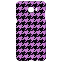 Houndstooth1 Black Marble & Purple Colored Pencil Samsung C9 Pro Hardshell Case  by trendistuff