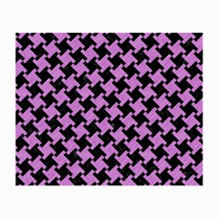Houndstooth2 Black Marble & Purple Colored Pencil Small Glasses Cloth by trendistuff