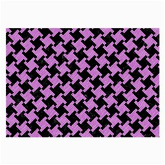 Houndstooth2 Black Marble & Purple Colored Pencil Large Glasses Cloth (2 Side) by trendistuff