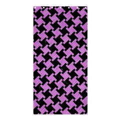 Houndstooth2 Black Marble & Purple Colored Pencil Shower Curtain 36  X 72  (stall)  by trendistuff