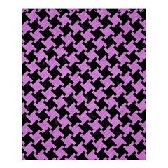 Houndstooth2 Black Marble & Purple Colored Pencil Shower Curtain 60  X 72  (medium)  by trendistuff
