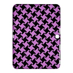 Houndstooth2 Black Marble & Purple Colored Pencil Samsung Galaxy Tab 4 (10 1 ) Hardshell Case  by trendistuff