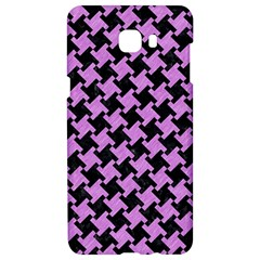 Houndstooth2 Black Marble & Purple Colored Pencil Samsung C9 Pro Hardshell Case  by trendistuff