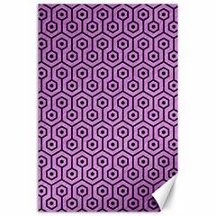 Hexagon1 Black Marble & Purple Colored Pencil Canvas 24  X 36  by trendistuff