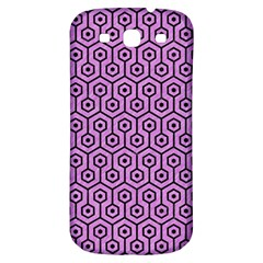 Hexagon1 Black Marble & Purple Colored Pencil Samsung Galaxy S3 S Iii Classic Hardshell Back Case by trendistuff