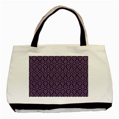Hexagon1 Black Marble & Purple Colored Pencil (r) Basic Tote Bag by trendistuff