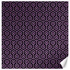 Hexagon1 Black Marble & Purple Colored Pencil (r) Canvas 20  X 20   by trendistuff