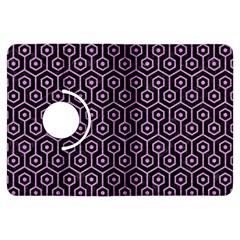 Hexagon1 Black Marble & Purple Colored Pencil (r) Kindle Fire Hdx Flip 360 Case by trendistuff