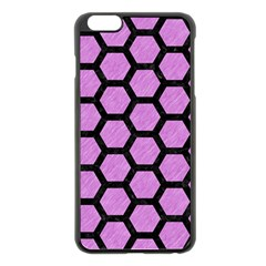 Hexagon2 Black Marble & Purple Colored Pencil Apple Iphone 6 Plus/6s Plus Black Enamel Case by trendistuff