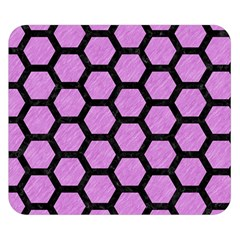 Hexagon2 Black Marble & Purple Colored Pencil Double Sided Flano Blanket (small)  by trendistuff