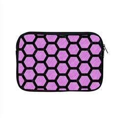 Hexagon2 Black Marble & Purple Colored Pencil Apple Macbook Pro 15  Zipper Case by trendistuff