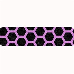 Hexagon2 Black Marble & Purple Colored Pencil (r) Large Bar Mats by trendistuff