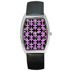 Puzzle1 Black Marble & Purple Colored Pencil Barrel Style Metal Watch by trendistuff