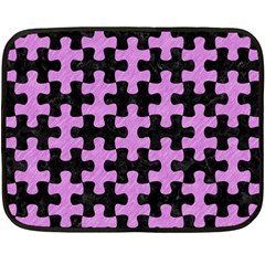 Puzzle1 Black Marble & Purple Colored Pencil Fleece Blanket (mini) by trendistuff