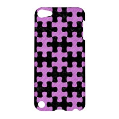 Puzzle1 Black Marble & Purple Colored Pencil Apple Ipod Touch 5 Hardshell Case by trendistuff