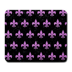 Royal1 Black Marble & Purple Colored Pencil Large Mousepads by trendistuff