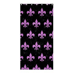 Royal1 Black Marble & Purple Colored Pencil Shower Curtain 36  X 72  (stall)  by trendistuff