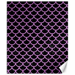 Scales1 Black Marble & Purple Colored Pencil (r) Canvas 20  X 24   by trendistuff