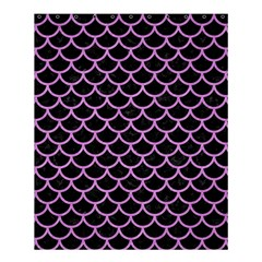 Scales1 Black Marble & Purple Colored Pencil (r) Shower Curtain 60  X 72  (medium)  by trendistuff