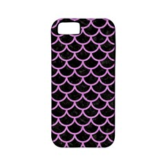 Scales1 Black Marble & Purple Colored Pencil (r) Apple Iphone 5 Classic Hardshell Case (pc+silicone) by trendistuff