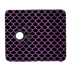 Scales1 Black Marble & Purple Colored Pencil (r) Galaxy S3 (flip/folio)