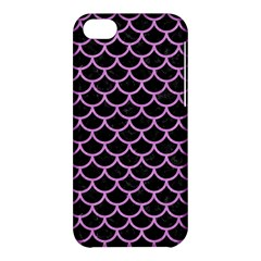 Scales1 Black Marble & Purple Colored Pencil (r) Apple Iphone 5c Hardshell Case by trendistuff
