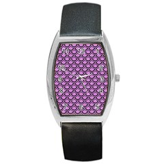Scales2 Black Marble & Purple Colored Pencil Barrel Style Metal Watch by trendistuff