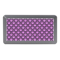 Scales2 Black Marble & Purple Colored Pencil Memory Card Reader (mini) by trendistuff