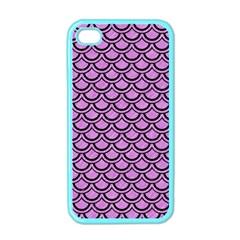 Scales2 Black Marble & Purple Colored Pencil Apple Iphone 4 Case (color) by trendistuff