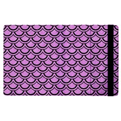 Scales2 Black Marble & Purple Colored Pencil Apple Ipad Pro 12 9   Flip Case by trendistuff