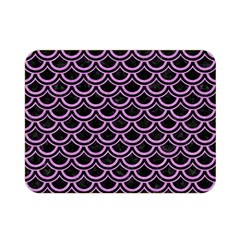 Scales2 Black Marble & Purple Colored Pencil (r) Double Sided Flano Blanket (mini)  by trendistuff