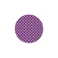 Scales3 Black Marble & Purple Colored Pencil Golf Ball Marker (4 Pack) by trendistuff