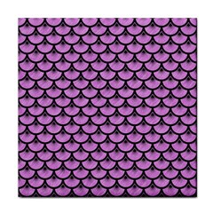 Scales3 Black Marble & Purple Colored Pencil Face Towel by trendistuff