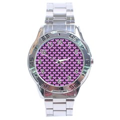 Scales3 Black Marble & Purple Colored Pencil Stainless Steel Analogue Watch by trendistuff