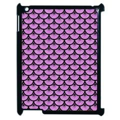 Scales3 Black Marble & Purple Colored Pencil Apple Ipad 2 Case (black) by trendistuff