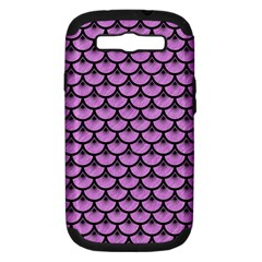 Scales3 Black Marble & Purple Colored Pencil Samsung Galaxy S Iii Hardshell Case (pc+silicone) by trendistuff