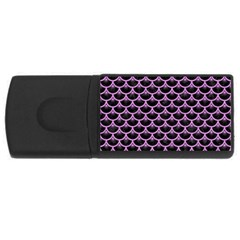 Scales3 Black Marble & Purple Colored Pencil (r) Rectangular Usb Flash Drive by trendistuff