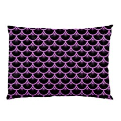 Scales3 Black Marble & Purple Colored Pencil (r) Pillow Case by trendistuff