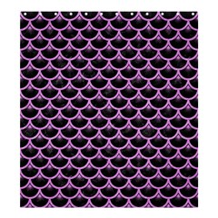 Scales3 Black Marble & Purple Colored Pencil (r) Shower Curtain 66  X 72  (large)  by trendistuff